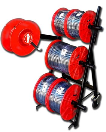 Messi & Paoloni coaxial cable trolley for bobbins and coils